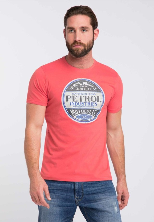 Print T-shirt - red coral