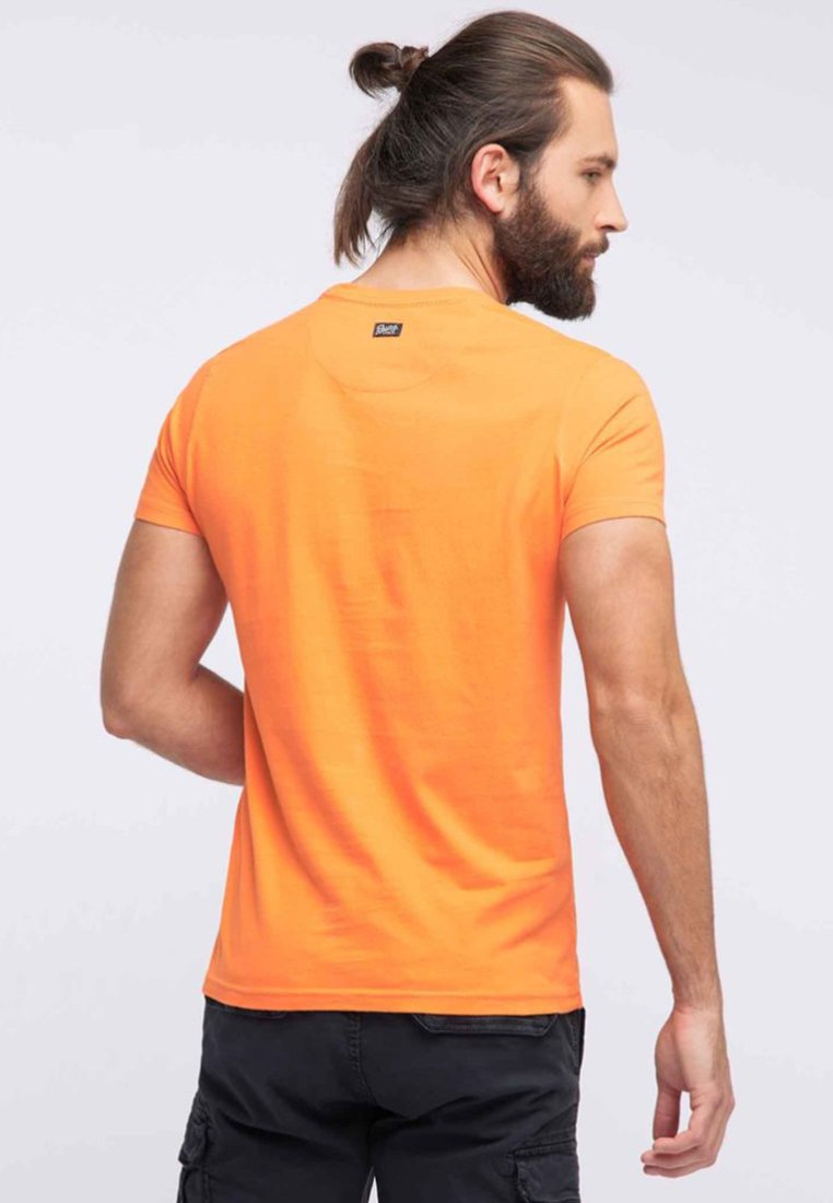 Industries ImpriméBright T Petrol Orange shirt fg6yYb7