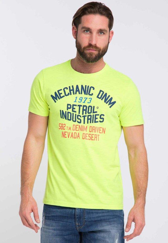 Print T-shirt - safety yellow