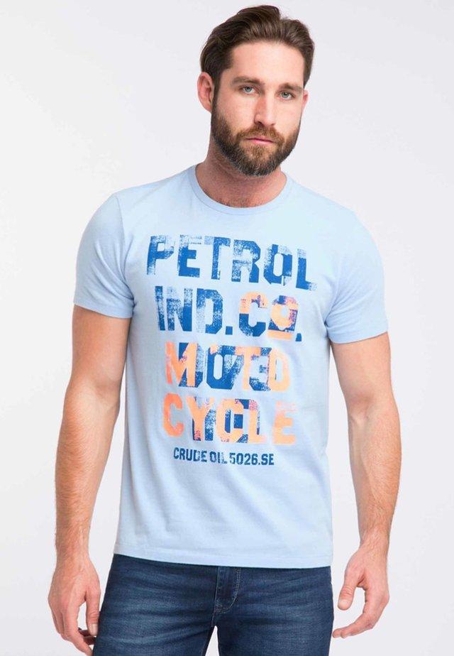 Print T-shirt - steel blue