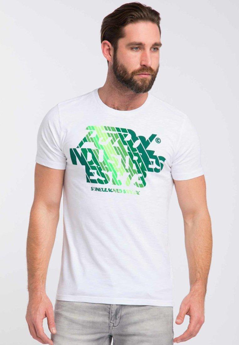 Petrol Industries T-shirt z nadrukiem - bright white