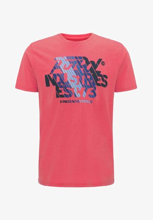 T-shirt med print - red coral
