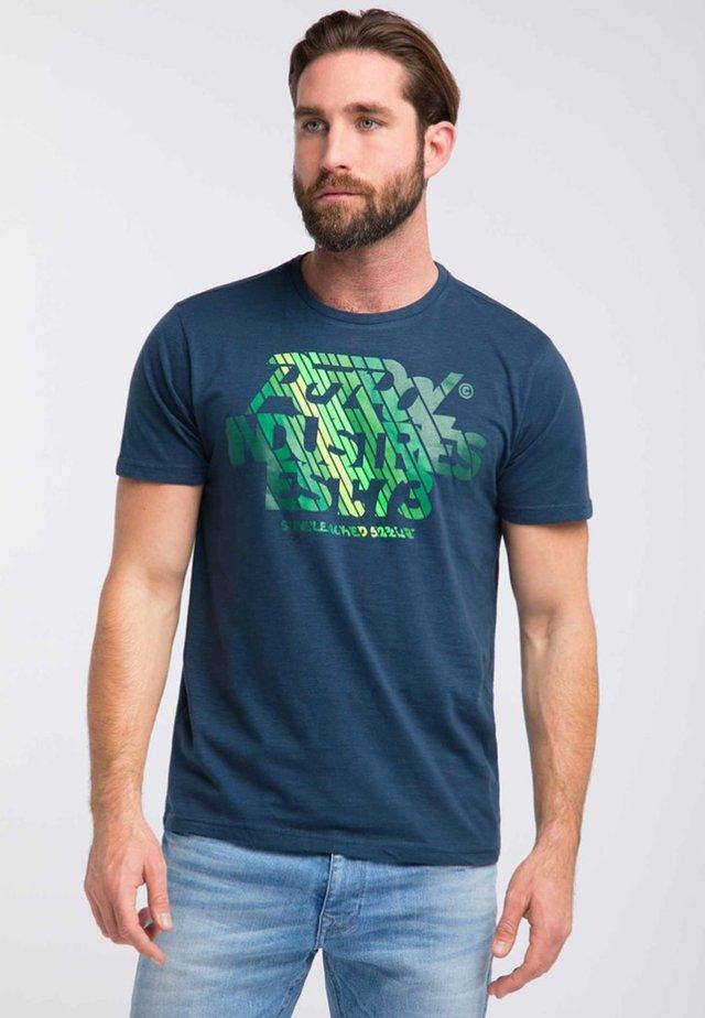 Print T-shirt - dark turquoise