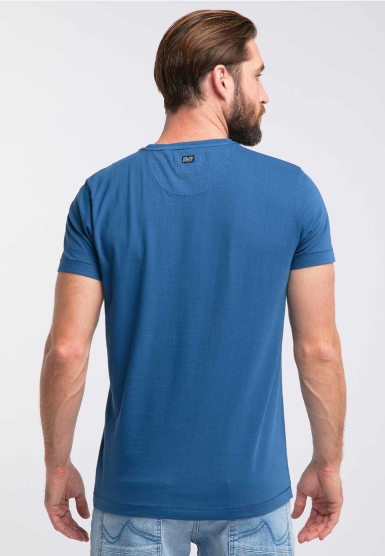 T shirt Blue Petrol Industries BasiqueRoyal VqSUpzMG