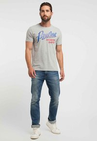 Petrol Industries - T-shirt med print - light grey - 1