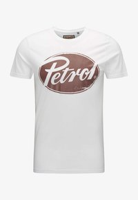 Petrol Industries - T-shirt med print - bright white - 4