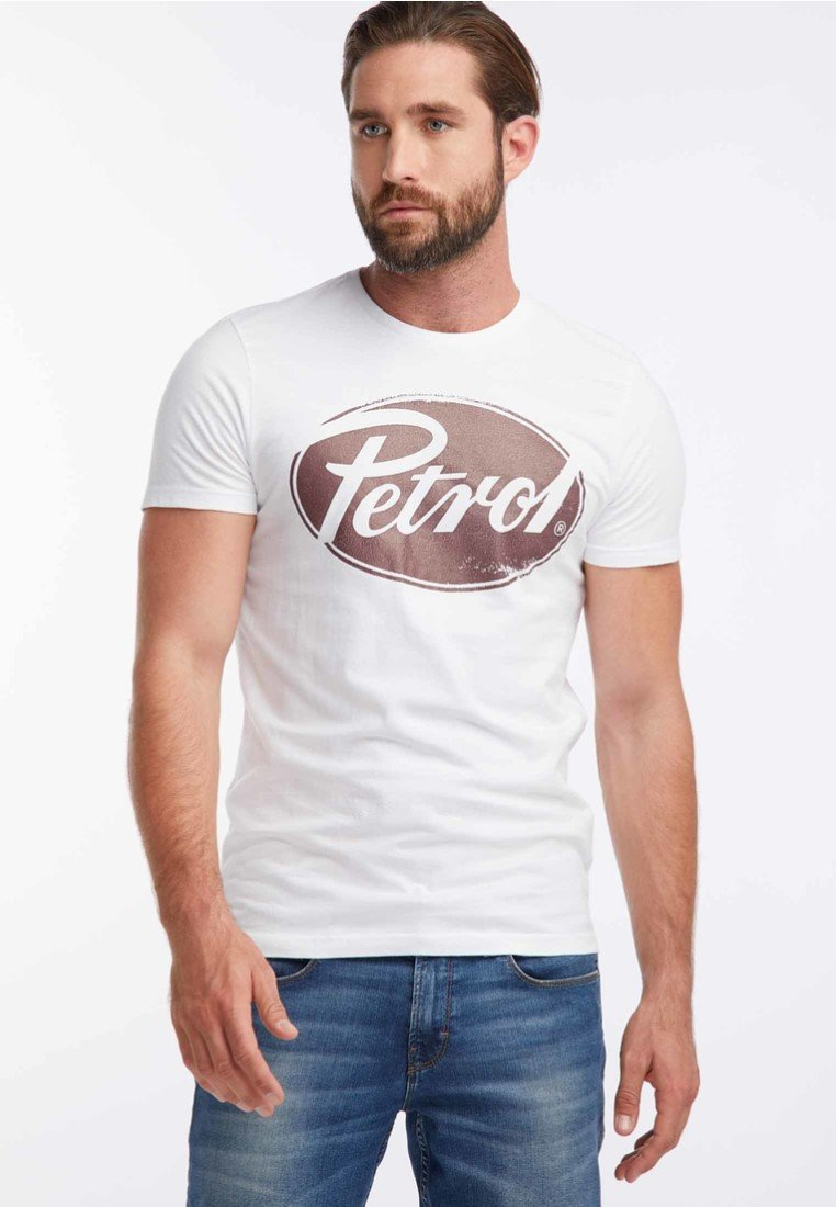 Petrol Industries - T-shirt med print - bright white