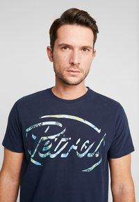 Petrol Industries - T-shirt med print - deep navy - 3