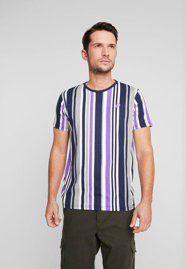 T-shirt med print - lila