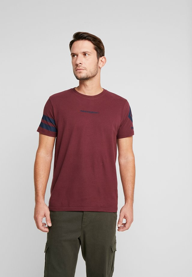 T-Shirt basic - burgundy