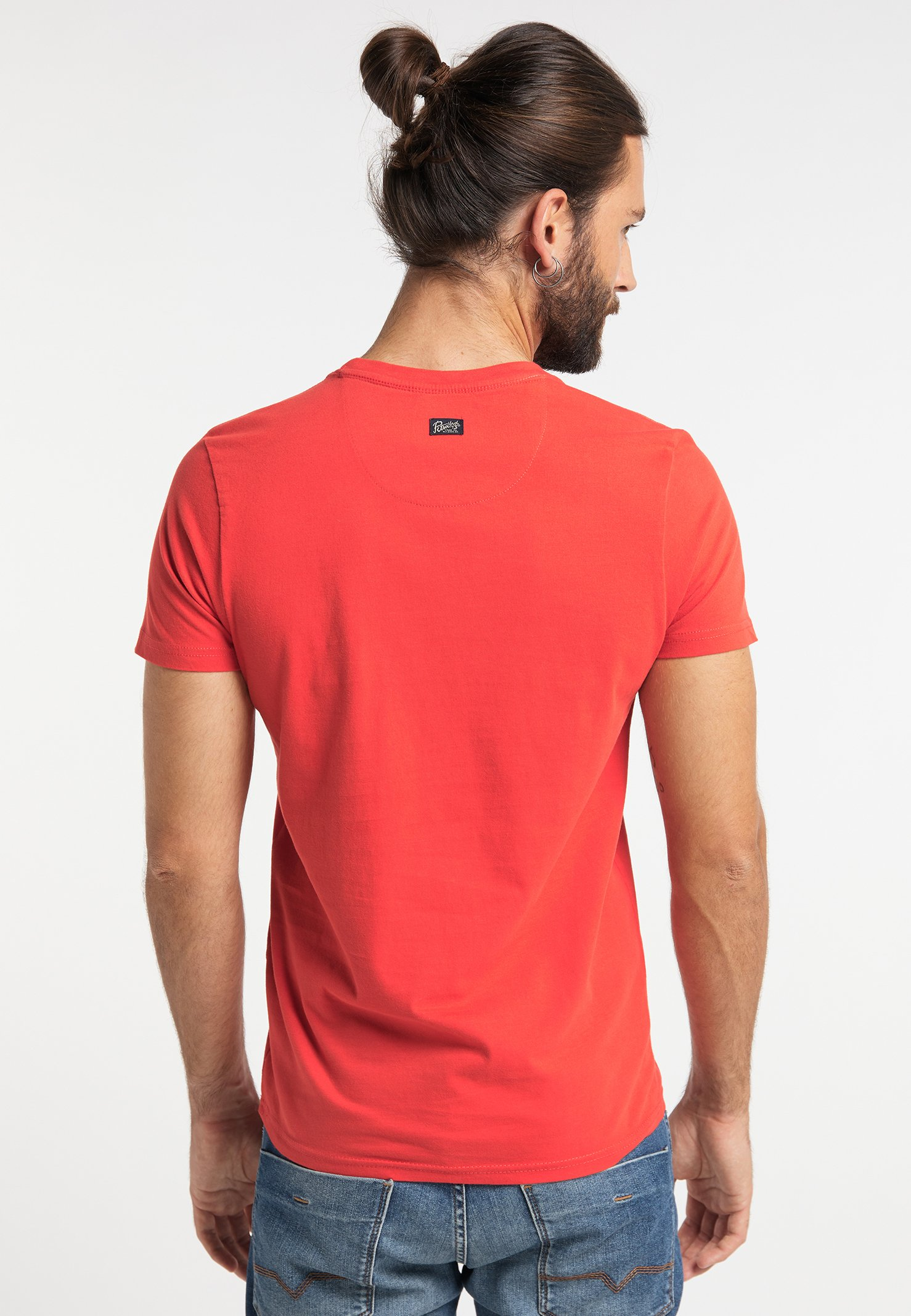 Stampa Red T Petrol Industries Con shirt nwP0XN8Ok
