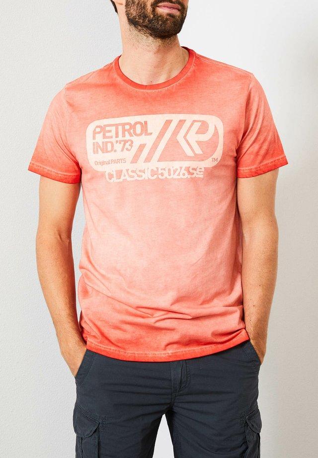 Print T-shirt - deep orange