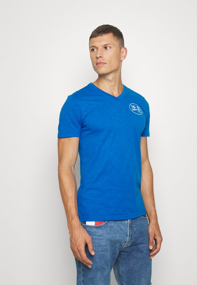 T-shirt print - electric blue