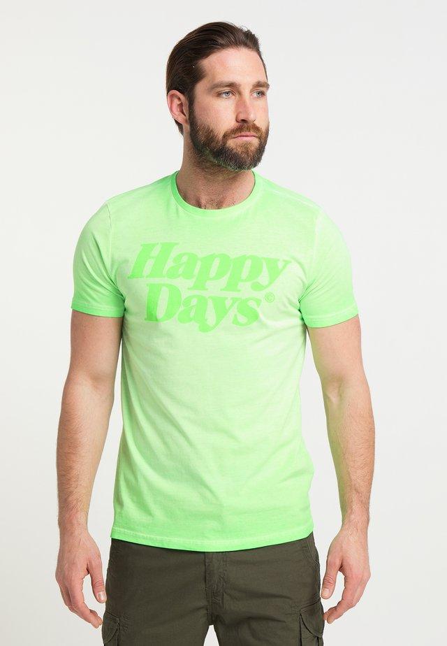 T-shirt z nadrukiem - light green
