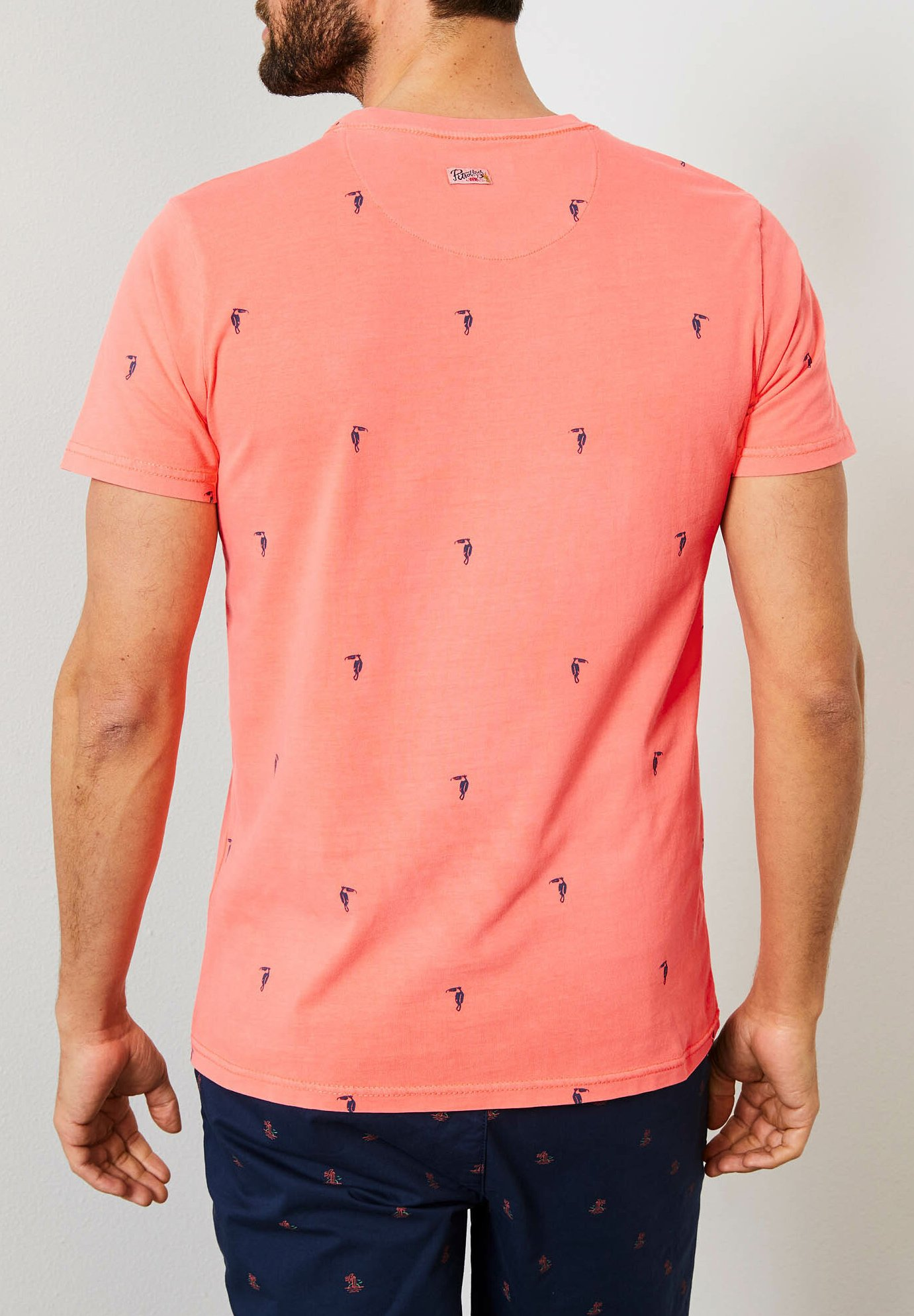 Petrol Industries T-shirts print - fiery coral
