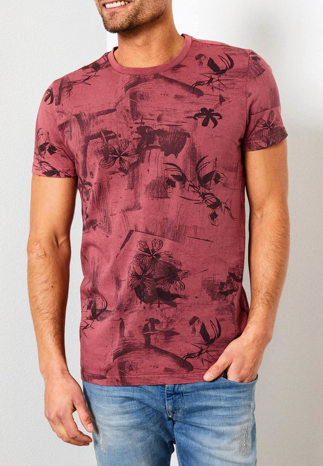T-shirt print - light maroon