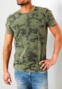 Petrol Industries - T-shirt print - greenstone - 0