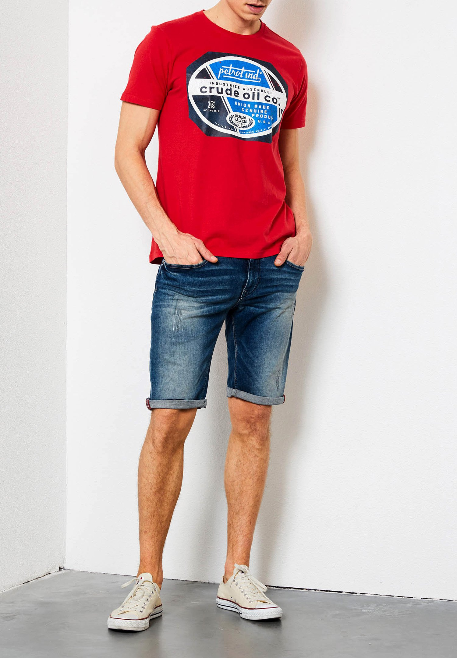 Petrol Industries T-shirt Con Stampa - Signal Red h0AYN
