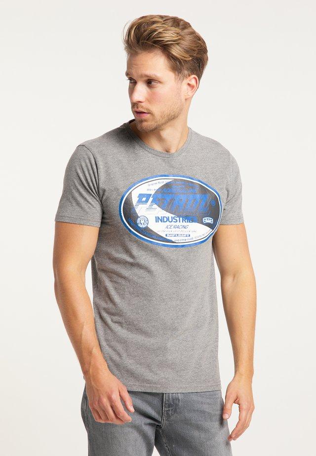 T-SHIRT - T-shirt imprimé - light slate melee