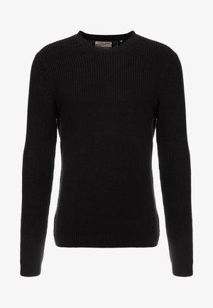 CREW NECK - Pullover - black