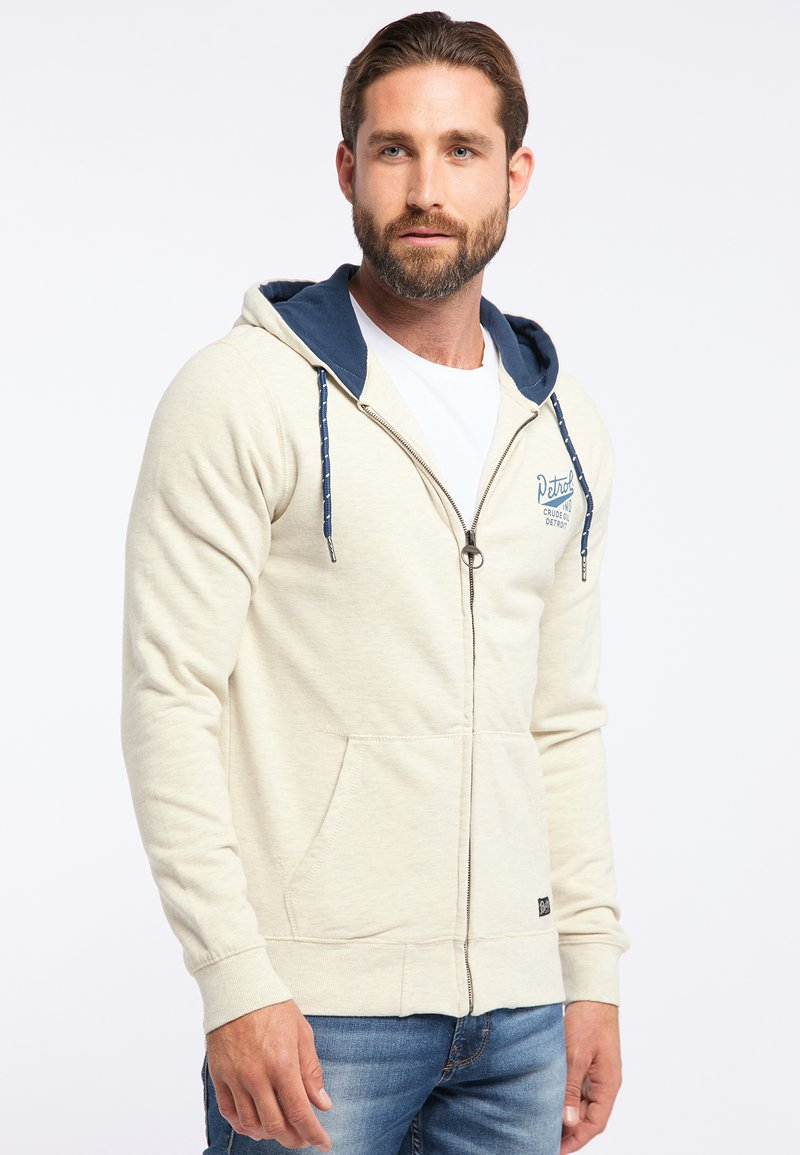 Petrol Industries - veste en sweat zippée - white