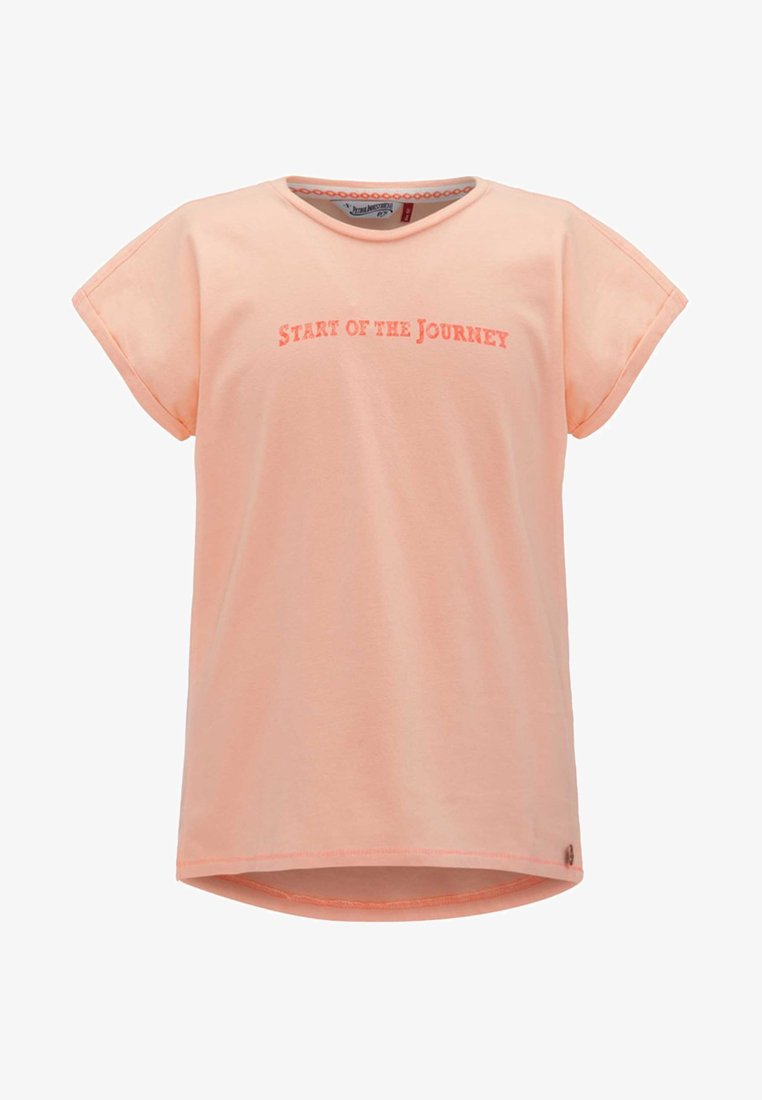 Petrol Industries - T-shirt z nadrukiem - peach nectar