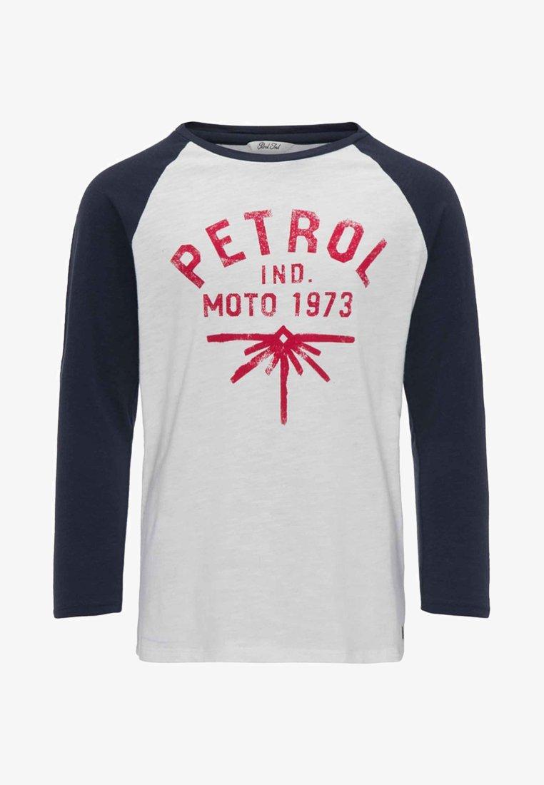 Petrol Industries - Top sdlouhým rukávem - white
