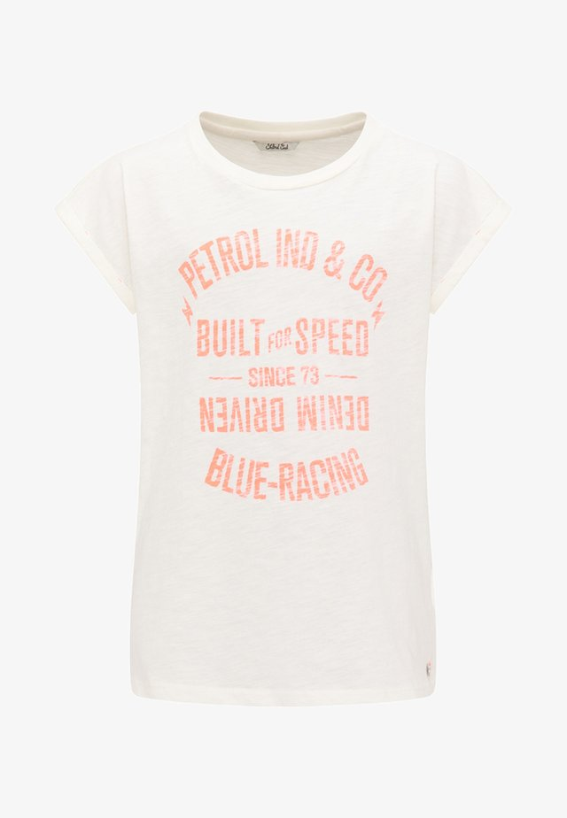 Camiseta estampada - whisper white