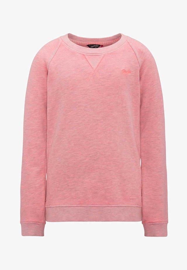 Sweatshirt - bright pink