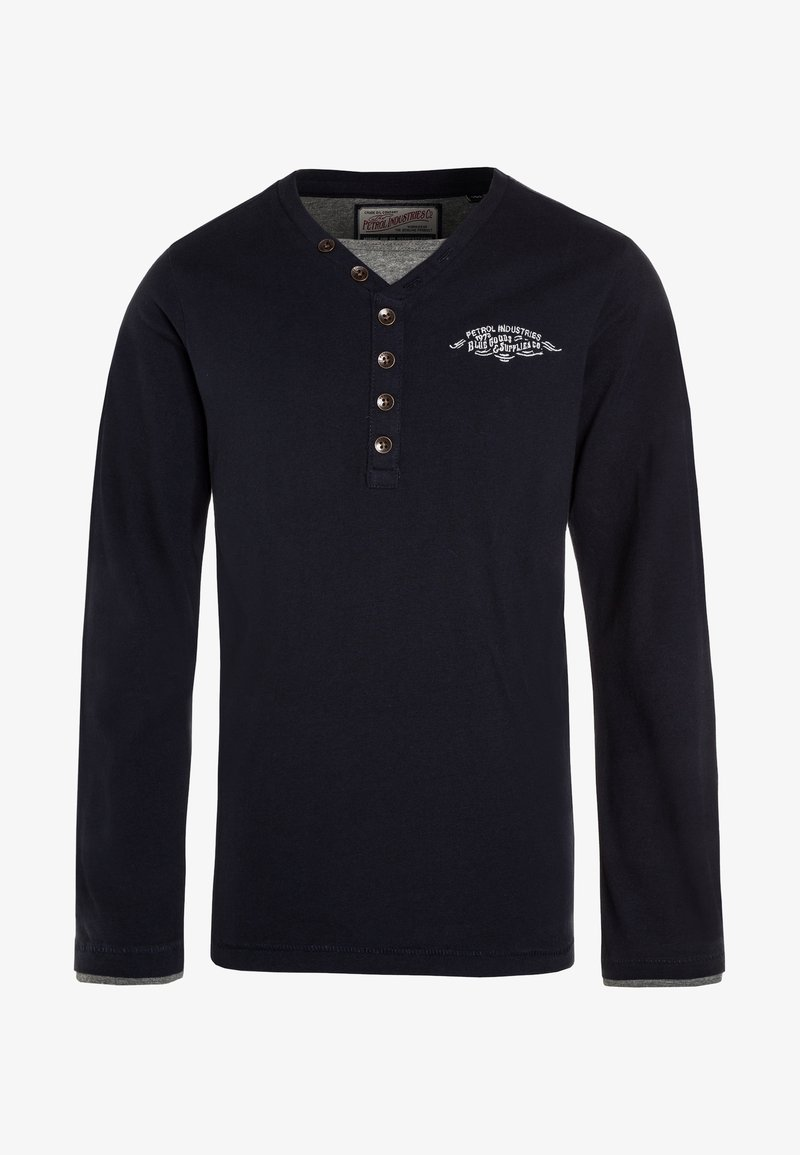 Petrol Industries - Langærmede T-shirts - deep navy