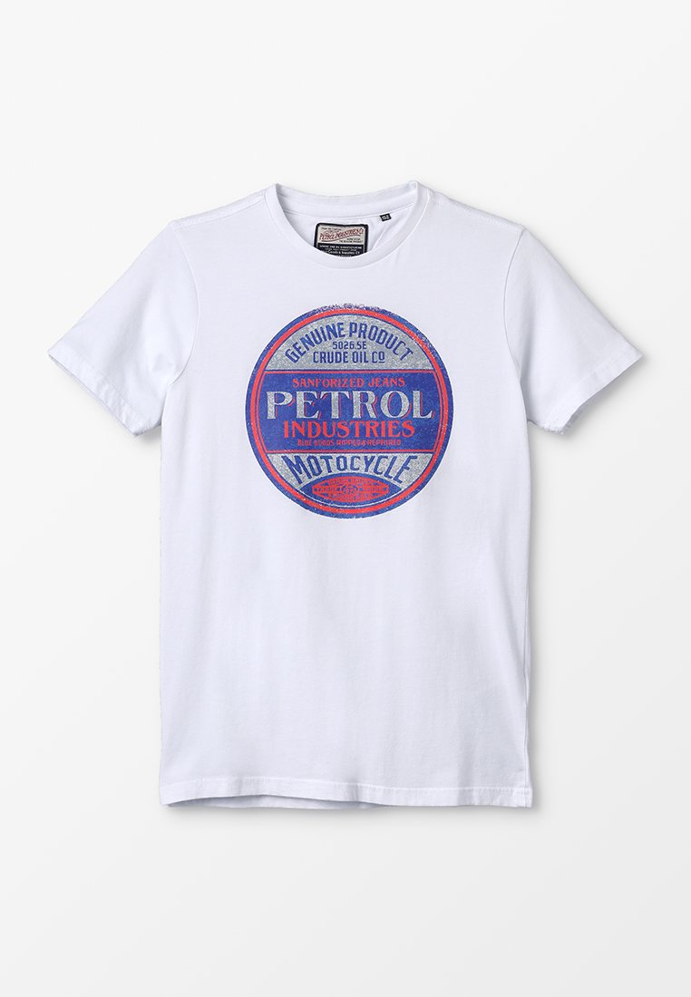 Petrol Industries - T-shirt con stampa - bright white