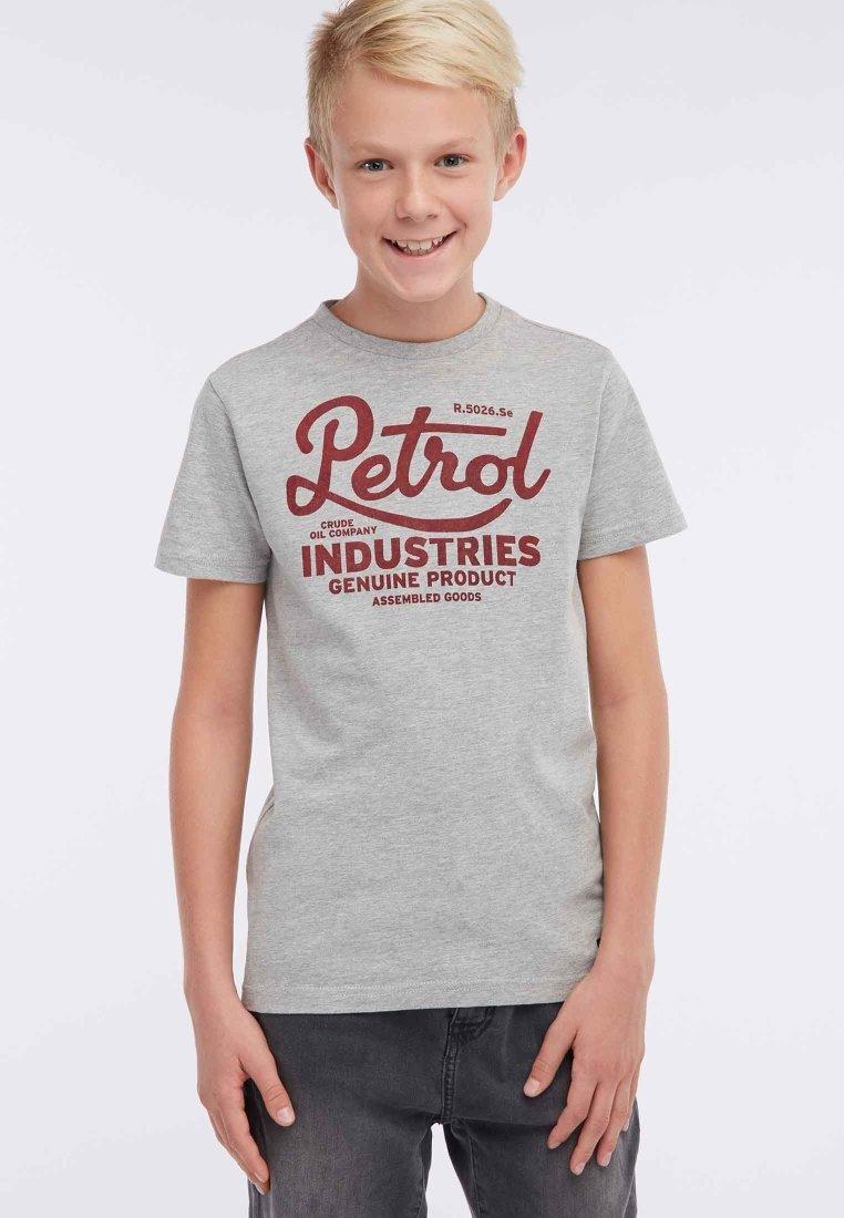 Große Förderung Petrol Industries T-Shirt print - light grey | Damenbekleidung 2020