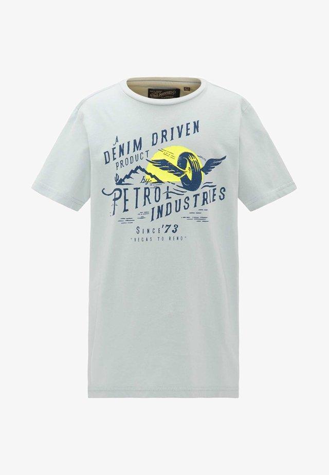 Camiseta estampada - cadet blue