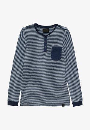 Langærmede T-shirts - faded indigo