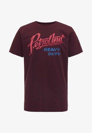 T-shirt imprimé - burgundy