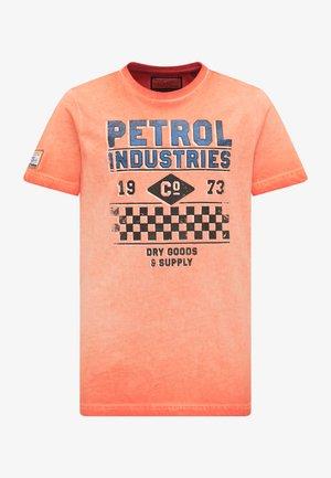 T-Shirt print - deep orange