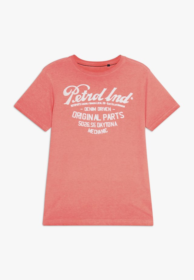 T-Shirt print - fiery coral