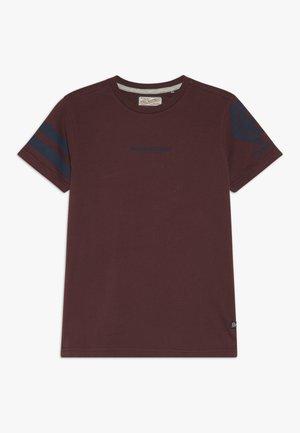 Print T-shirt - burgundy