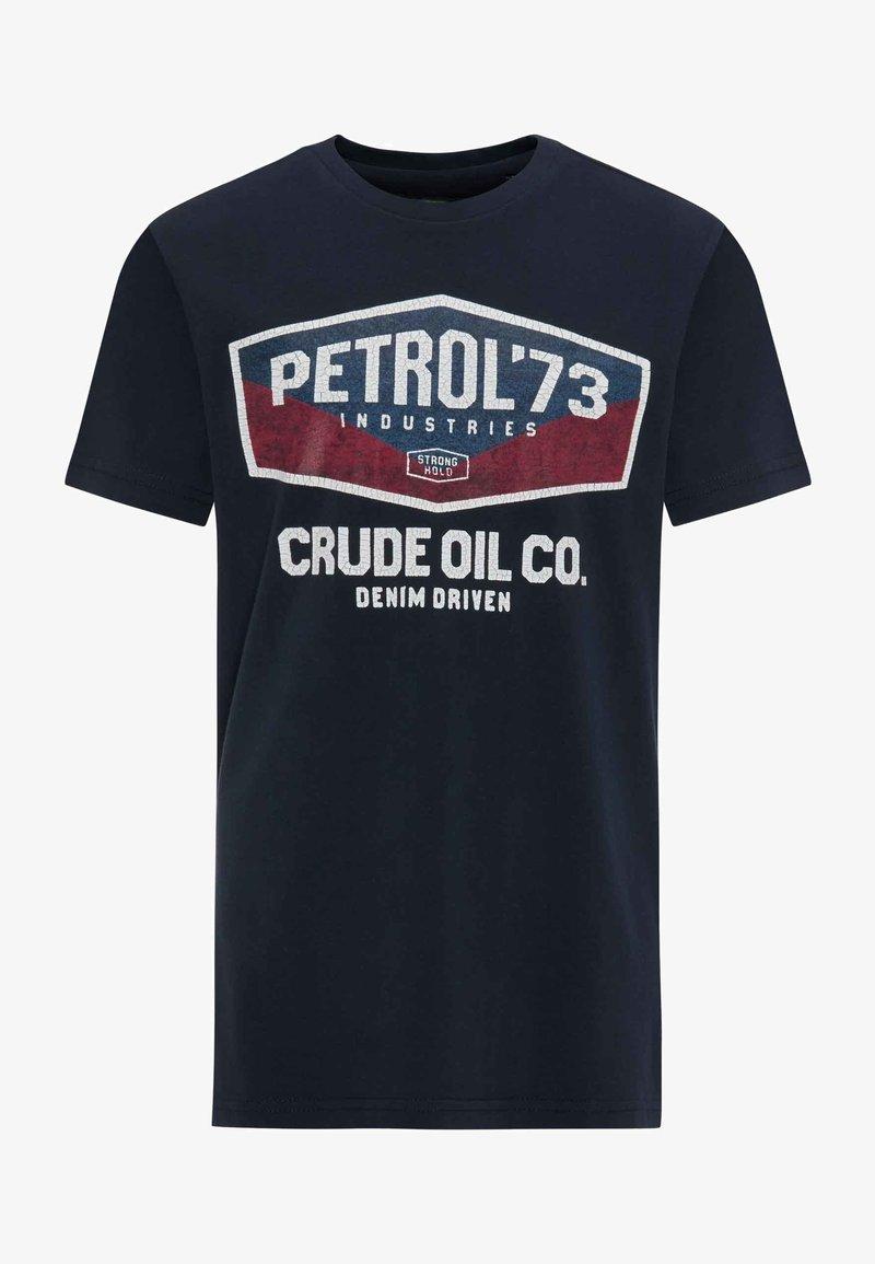 Petrol Industries - T-Shirt print - deep navy