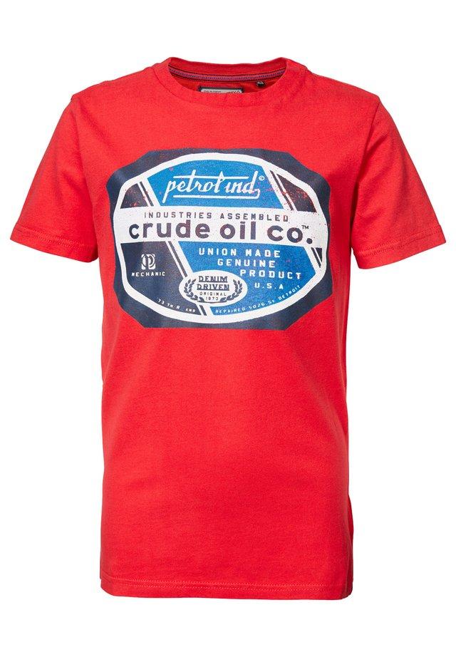 Camiseta estampada - signal red