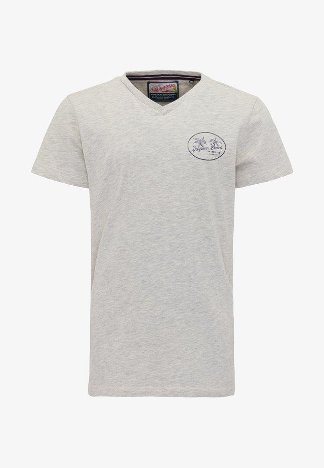 Print T-shirt - silver grey melee