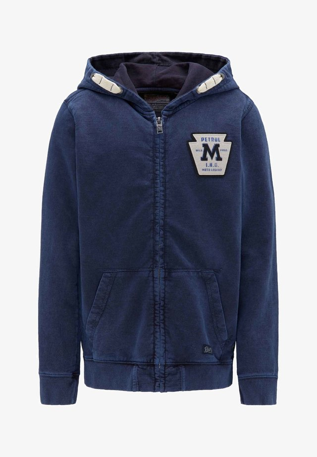 Zip-up hoodie - deep capri