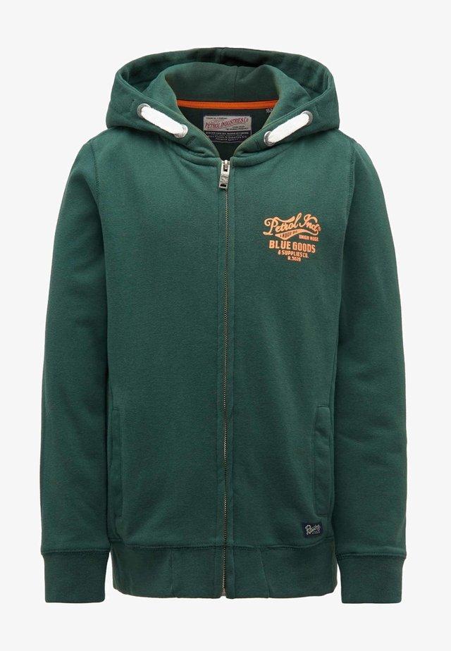 Zip-up hoodie - night green