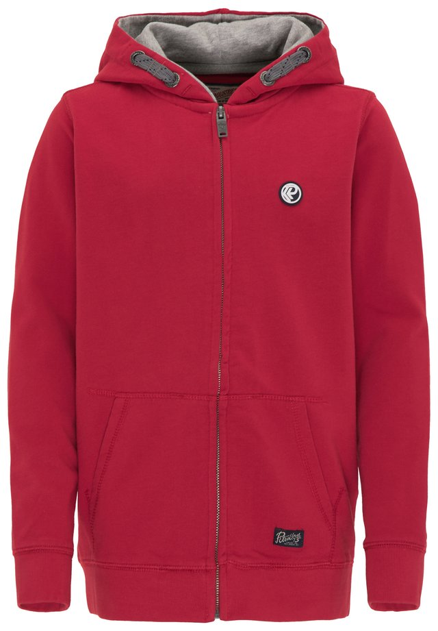 Zip-up hoodie - fire red