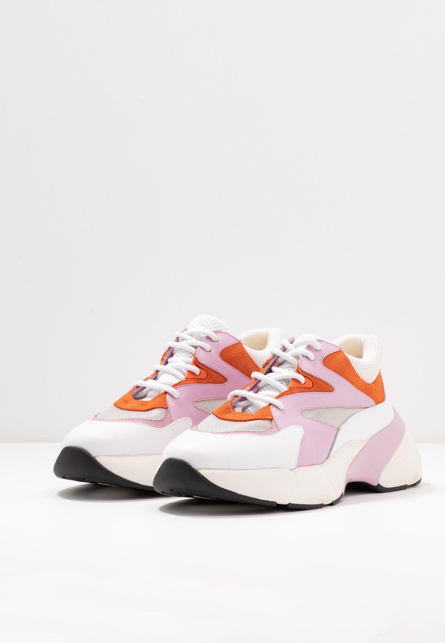 Pinko Maggiorana - Baskets Basses Bianco/rosa/arancio