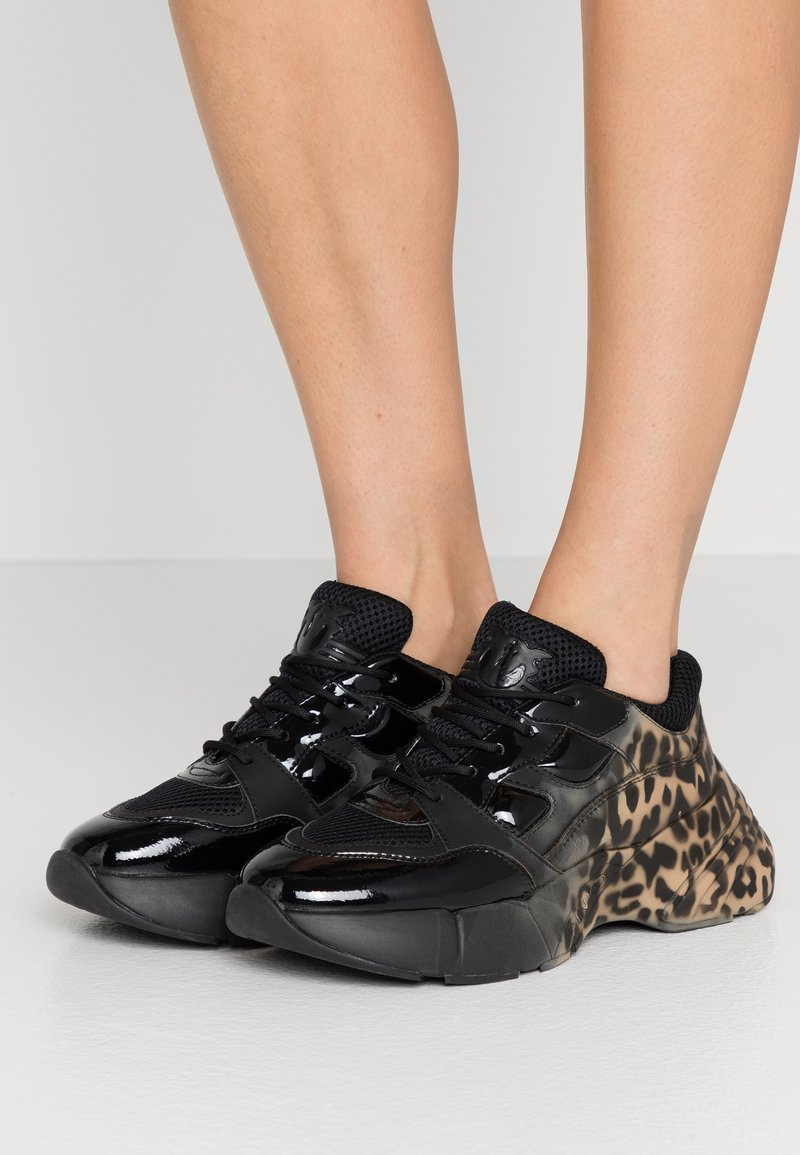 Pinko - RUBINO ANIMALIER - Trainers - multicolor/nero