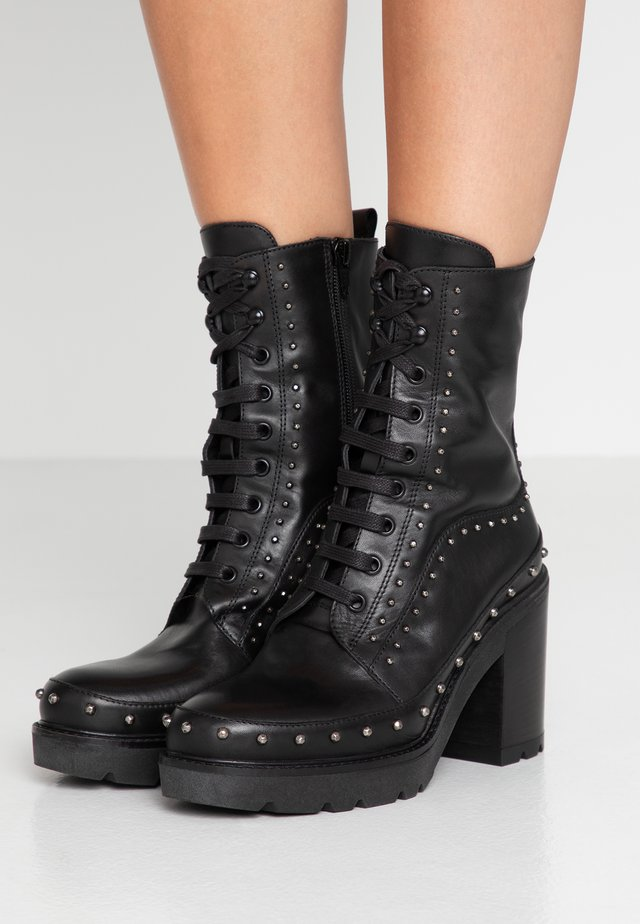 CAREZZA - High heeled ankle boots - black