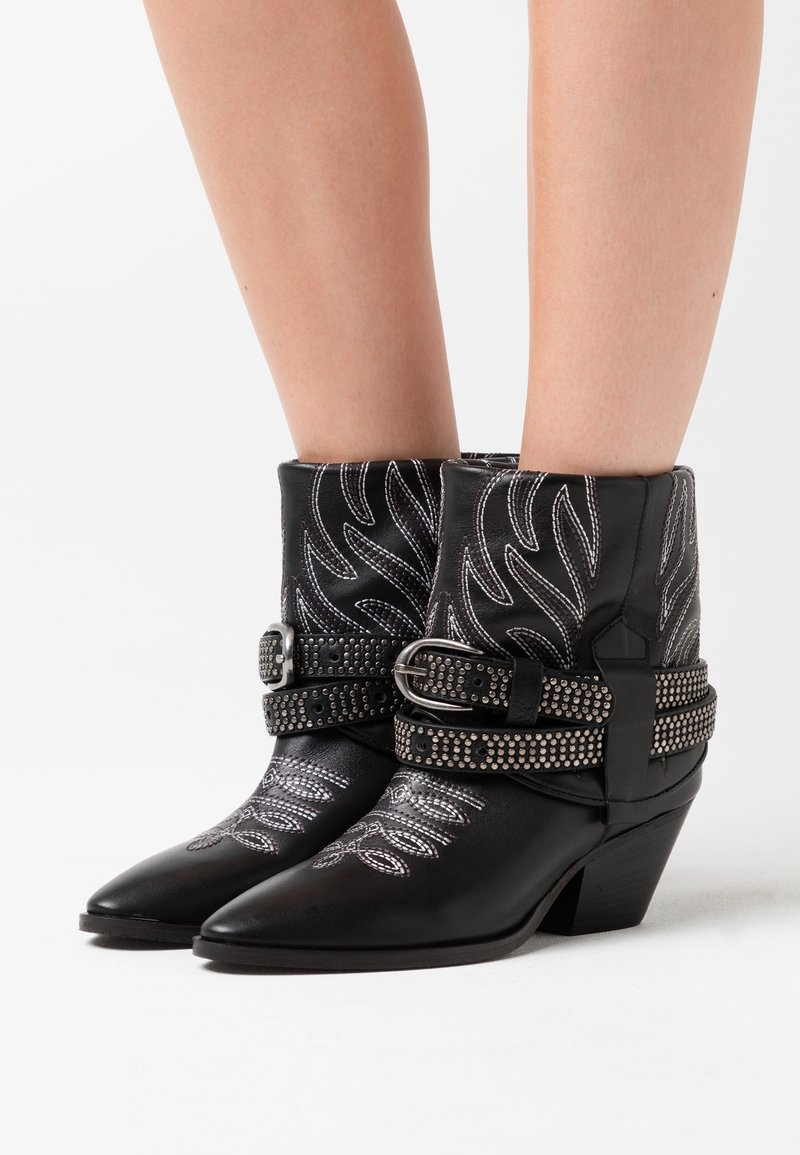 Pinko - RAFANO STIVALE - Cowboy/biker ankle boot - black