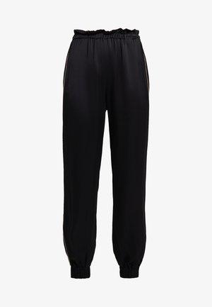 ANARCHICO PANTALONE LIQUID - Spodnie materiałowe - nero/rosa
