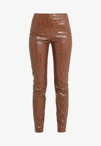 Pinko - GRADINO PANTALONE COCCO LUCIDATO - Kalhoty - brown - 3